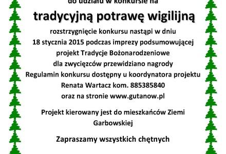"""Stowarzyszenie """"Nasz Gutanów"""" zaprasza do konkursu kulinarnego"""