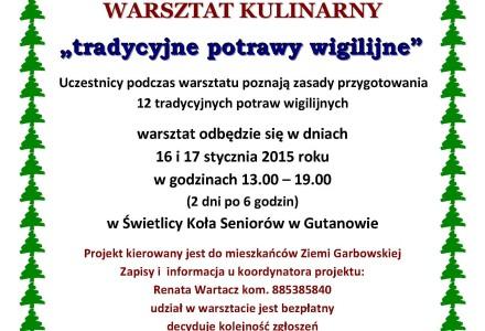 Warsztaty kulinarne w Gutanowie – zapraszamy mieszkańców z całej gminy!