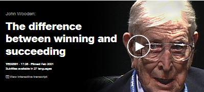 """""""O różnicy pomiędzy wygrywaniem a sukcesem"""" – John Wooden"""
