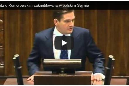 Kneblowanie opozycji! Marszałek Sikorski wyłącza mikrofon, gdy poseł PiS zaczyna pytać o powiązania prezydenta Komorowskiego z WSI. ZOBACZ WIDEO