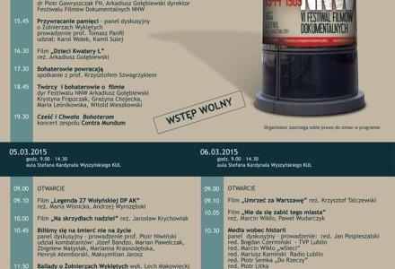 Retrospektywa Festiwalu Filmów Dokumentalnych NNW Gdynia, Lublin 4-6 marca 2015, Katolicki Uniwersytet Lubelski