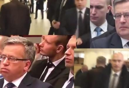 Incydent podczas wizyty Komorowskiego w Rzeszowie. Interwencja BOR i zaklejone usta manifestanta. A znudzony prezydent… ciężko wzdycha. [wideo]
