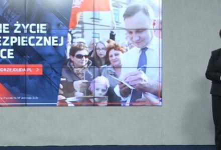 """Duda proponuje """"Godne życie w bezpiecznej Polsce"""". """"Tego chcą dziś Polacy, o tym mówi Andrzej Duda"""""""