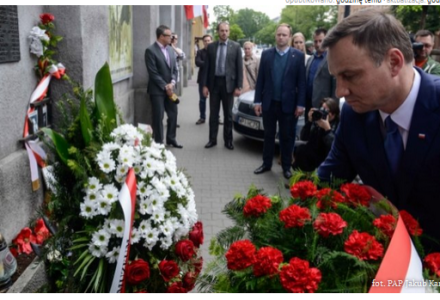 """Andrzej Duda oddał hołd Witoldowi Pileckiemu. """"Mam nadzieję, że Polska odnajdzie doczesne szczątki rotmistrza"""""""