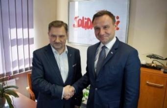 """""""Solidarność"""" poparła Andrzeja Dudę. """"Pracownicy nie powinni głosować na Komorowskiego"""""""