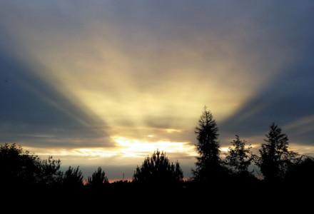 Wieczorne niebo w Bogucinie. 18 czerwca 2015