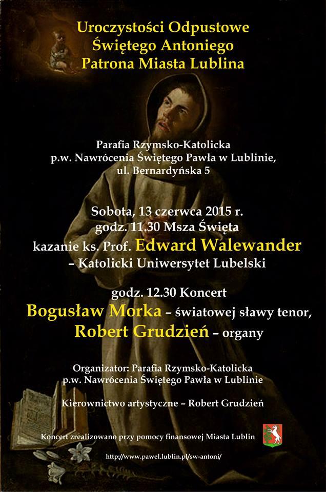 13 czerwca – Dzień Patrona Lublina