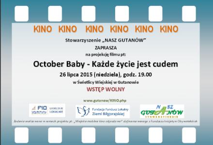 """""""Mobilne Kino"""" w Gutanowie – niedziela 26 lipca 2015, godz. 19.00"""