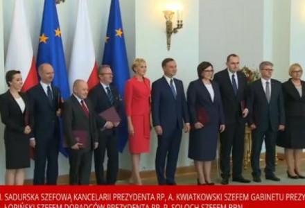 """Prezydent Andrzej Duda powołał skład swojej kancelarii. """"Zaczynamy"""""""