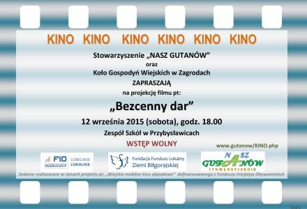 12 września 2015 – Kino w Przybysławicach!