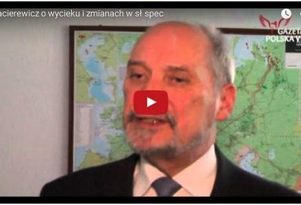 Antoni Macierewicz o stanie polskich służb w kontekście wycieku danych dotyczących polskich oficerów kontrwywiadu [wideo]