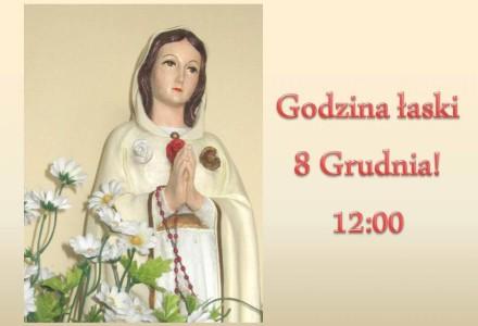 """8 grudnia g. 12-13 – """"Godzina Łaski"""" w Święto Niepokalanego Poczęcia Najświętszej Maryi Panny"""