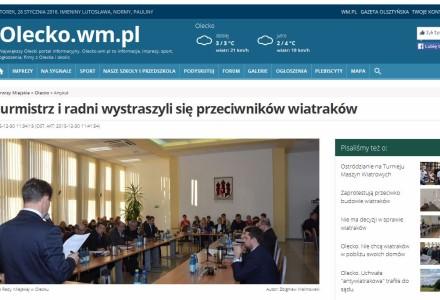 OLECKO. Burmistrz i radni wystraszyli się przeciwników wiatraków