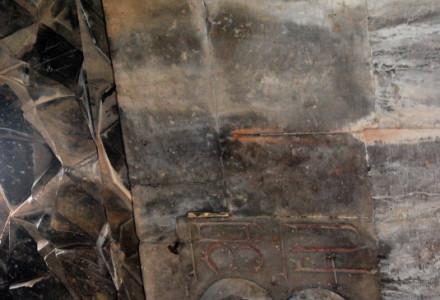 Twarz Jezusa na suficie klasztoru Noravank w Armenii