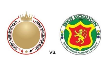 20 marca 2016 w Borzechowie. BKS Bogucin vs. Perła Borzechów. Kolejne spotkanie sparingowe