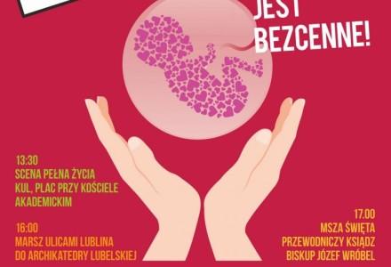 Lublin, 15 maja 2016 r. – Marsz dla Życia i Rodziny: Każde życie jest bezcenne