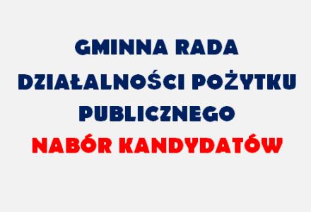 Nabór kandydatów do Gminnej Rady Działalności Pożytku Publicznego w Garbowie