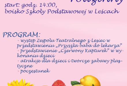 Zaproszenie na VII Festyn Rodzinny w Leścach – niedziela, 26 czerwca 2016 r.
