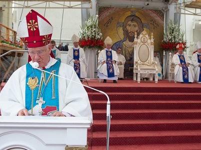 """XXV Pielgrzymka Radia Maryja: Ks. bp Ignacy Dec """"Radio Maryja to Radio, które łączy Naród"""""""