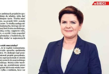 """Premier Beata Szydło we """"wSieci"""" w sprawie imigrantów: """"Nie ma ceny za bezpieczeństwo Polaków. Nie cofniemy się"""""""