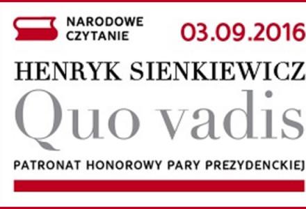 Narodowe Czytanie Quo vadis Henryka Sienkiewicza – Gutanów, 3 września 2016 r. Zapraszamy