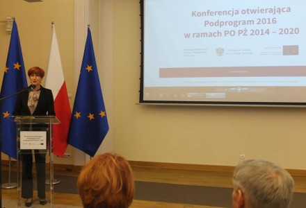 O dystrybucji żywności przez stowarzyszenia w gminie Garbów na konferencji w Ministerstwie Rodziny, Pracy i Polityki Społecznej. Wśród uczestników między innymi przedstawiciele Wspólnoty Garbowskiej oraz Banku Żywności w Lublinie