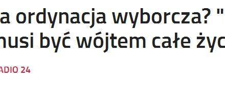 """Prof. Wawrzyk: """"Nie jest powiedziane, że ktoś przez całe życie musi być prezydentem, wójtem czy burmistrzem"""""""