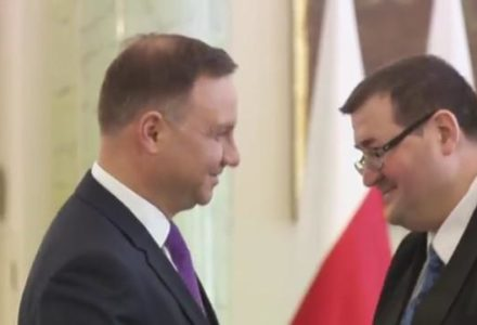 27 luty 2017 r. – Zaprzysiężenie nowego sędziego Grzegorza Jędrejka na sędziego Trybunału Konstytucyjnego