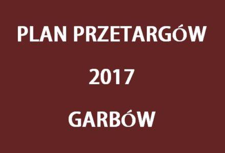 Plan przetargów w Gminie Garbów w roku 2017