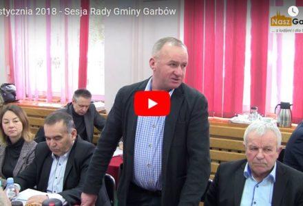 24 stycznia 2018 – Sesja Rady Gminy Garbów. Sprawy budżetowe. [wideo]