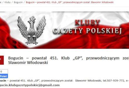 W Bogucinie powstał Klub Gazety Polskiej – Zapraszamy do uczestnictwa