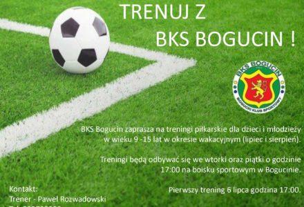 Wakacyjne treningi piłkarskie w Bogucinie. BKS zaprasza młodzież w wieku od 9 do 15 lat