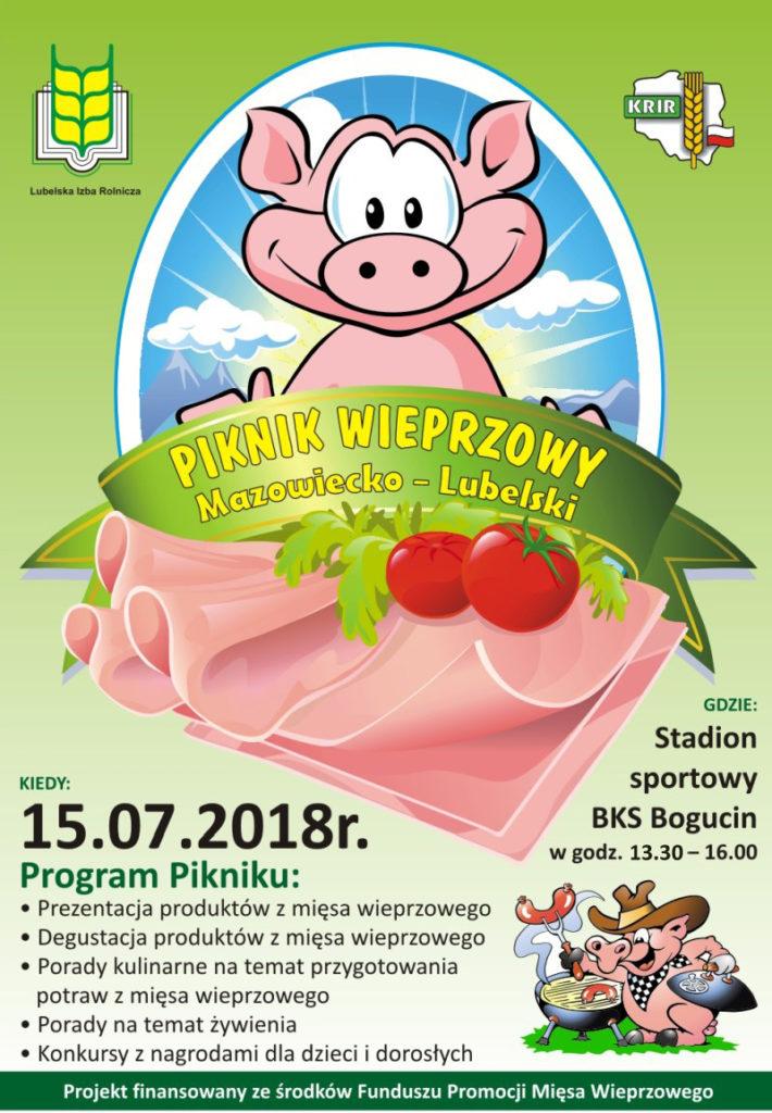 Piknik Wieprzowy w Bogucinie – niedziela, 15 lipca 2018 r.