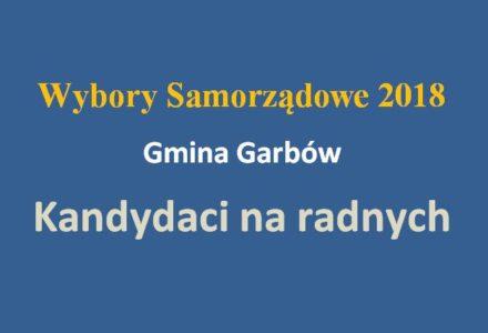 Gmina Garbów – lista kandydatów na radnych. Wybory samorządowe 2018