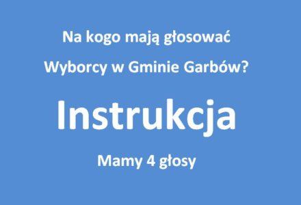 Na kogo mają głosować wyborcy dobrej zmiany w Gminie Garbów? Krótka instrukcja redakcji.