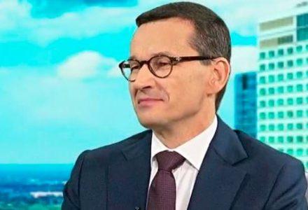 """Premier Mateusz Morawiecki: """"Mogą obrażać, wyzywać, ale ja z drogi naprawy Rzeczypospolitej nie zejdę."""""""