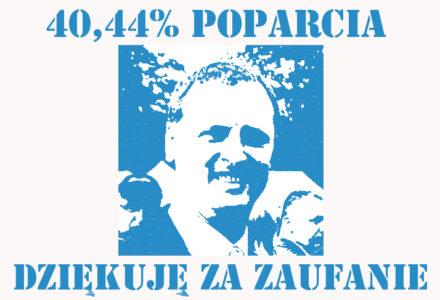 """""""Spokojnie pracujemy dalej."""" Tadeusz Barszcz dziękuje wyborcom dobrej zmiany za zaufanie."""