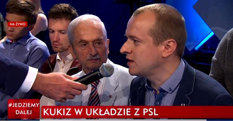 Krzysztof Kowalczyk z Bogucina na antenie TVP INFO rezygnuje z członkostwa w KUKIZ'15. Jego zdaniem koalicja z PSL jest niewiarygodna.