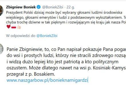 Zbigniew Boniek wyraził na twitterze pogardę do wiejskiego elektoratu. Niech przyjedzie do nas i powie to na dożynkach.
